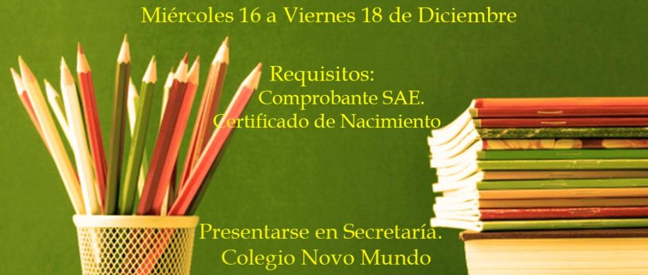 Matrícula Alumnos Nuevos SAE.